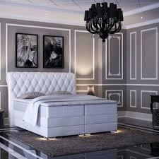 baron luxus boxspringbett mit bettkasten weiß