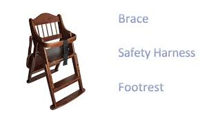 Abiie High Chair Assembly by Safetots Folding Wooden High Chair Youtube