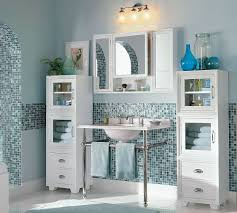 Blue Mosaic Bathroom Mirror by Bathroom White Wall Mount Bathroom Vanity On Mosaic Tiles