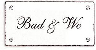 schild dekoschild bad wc shabby vintage türschild ca 20 x 10 cm