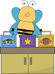 Bee Lunch Box Monitor Clip Art