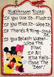 mickey minnie mouse bathroom rules