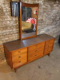 Johnson Carper 6 Drawer Dresser by Mid Century Chicago Johnson Carper Lowboy Dresser W Mirror