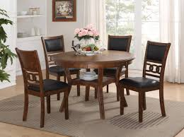 Gia Light Brown Round Table & 4 Chairs