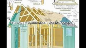10x12 Shed Material List by Free 12 X 16 Shed Plans Video Dailymotion