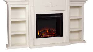 Decor Flame Infrared Electric Stove by Fe8544 Tennyson Electric Fireplace W Bookcases Ivory Youtube