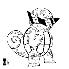 Cool Squirtle Pokemon Coloring Page