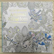 Secret Garden Series Animal Kingdom Coloring Book For Adult Kids Creative Therapy Doodling Drawing Books Fedex Free Pages Boys Detailed