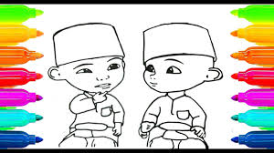 How To Draw Upin Ipin Coloring Book For Kids