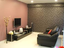 Red And Black Small Living Room Ideas by Red Walls And Black Wallpaper For Chic Small Living Room Idea