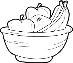 Coloring Page Of Fruit Bowl