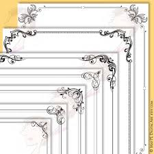 Digital Page Borders Frames Decoration Decorative Swirls