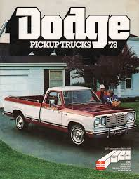 Chrysler 1978 Pickup Dodge Dodge Truck Sales Brochure