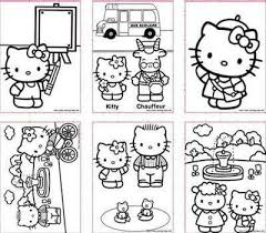 Hello Kitty Picture Collection Website Free Printable Mini Coloring Books