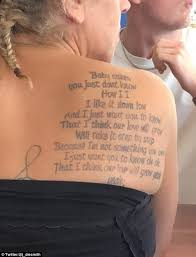 One Hit Wonder This Unnamed Womans Tattoo Paid Homage To A Classic Noughties Song Baby