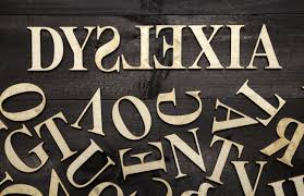letters that spell out the word dyslexia