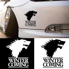 100 Cool Truck Stickers LiveCity Winter Is Coming Wolf Head Car Body Window Sticker