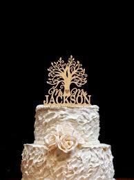 Wooden Tree Cake Topper Rustic Wedding Custom
