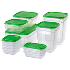 100 Storage Containers For The Home PRUTA Food Container Set Of 17 Clear Green