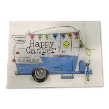 Happy Camper Glass Cutting Board