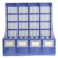 Multifunction Plastic Storage Hanger 4 Section Divider File Paper