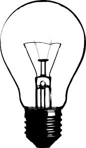 Light Bulb Clip Art Black And White