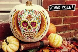 Sugar Skull Pumpkin Carving Patterns by Happy Halloween Pumpkin Contest Winners U2013 A Beautiful Mess