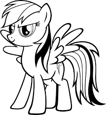 Rainbow My Little Pony Coloring Pages