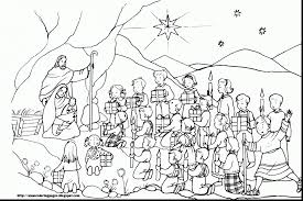 Download Coloring Pages Baby Jesus Incredible Ba In Manger Page With
