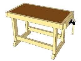 build a cheap woodworking workbench free plans