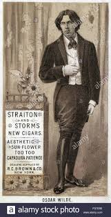NAmerican Advertisement For Straiton And Storms Cigars Featuring Irish Writer Oscar Wilde Lithograph 1882