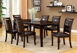 Furniture Of America CM3024T CM3024SC Woodside 7 Pieces Transitional Dark Cherry Finish Expandable Leaf Dining Table Set