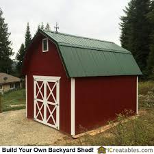 12x16 Gambrel Storage Shed Plans Free by Storage Shed Plans Are A Great Way To Get Additional Work Or