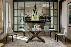 tisch mit struktur aus lackiertem stahl glas oder keramik