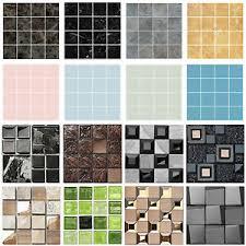 10x 3d mosaik fliesenaufkleber wandaufkleber küche bad