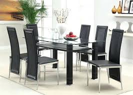 Modern Glass Dining Room Sets Stylish Table And Chairs