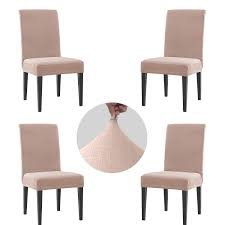 Granbest High Stretch Dining Room Chair Covers Set Of 4, Rhombus Jacquard  Fabric Parson Chair Slipcovers Protectors (Sand Pink, 4-Piece) Xiazuo Ding Chair Slipcovers Stretch Removable Covers Set Of 6 Washable Protector For Room Hotel Banquet Ceremonywedding Subrtex Sets Fniture Armchair Elastic Parsons Seat Case Restaurant Breathtaking Your Home Idea How To Sew A Slipcover The Ikea Henriksdal Hong Elegant Spandex Chairs Office Grey 4 Chun Yi Waterproof Jacquard Polyester Small Checks Antistain 2 Linen Store Luxurious Damask Cover Form Fitting Soft Parson Clothman Printed High Elasticity Fashion Plaid Kitchen 4coffee Subrtex Dyed Pieces Camel Leanking Knit Fabric Decor Beige Pcs Leaf Stretchable 1 Piece Yellow