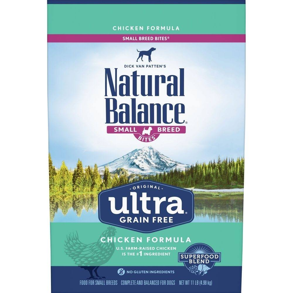 Natural Balance Original Ultra Grain Free Small Breed Bites Chicken Recipe Dry Dog Food 11-lb