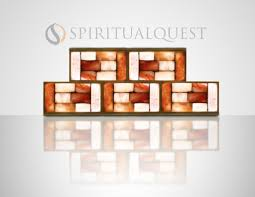 Evolution Himalayan Salt Lamps by Salt Brick Wall With Lighting Complete Plug In Play