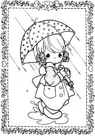 Girl In The Rain Precious Moments Coloring Pages