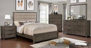 Image Is Loading Rustic Style Gray Eastern King Bed Dresser Mirror