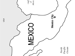 Mexico Flag Free Coloring Pages
