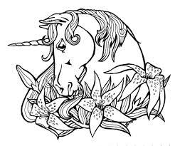 Unicorn Fantasy Myth Mythical Mystical Legend Coloring Pages Colouring Adult Detailed Advanced Printable Kleuren Voor Volwassenen