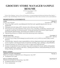 Grocery Store Resumes