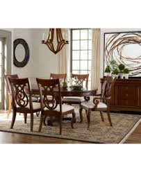 Round Dining Room Set For 4 by Bordeaux Pedestal Round 5 Pc Dining Room Set Dining Table U0026 4
