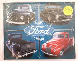 100 Funny Truck Pics Built Ford Tough F100 Advertisement Metal Bar Sign Man