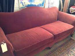 Pottery Barn Charleston Sofa Slipcover Craigslist by Vintage Burgundy Camel Back Sofa Price Reduction Sold Diy