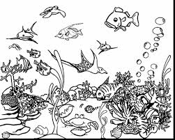 Surprising Printable Ocean Coloring Pages With Page And Pdf
