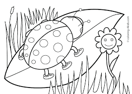 Spring Color Sheets Printable Summer Activities Coloring Pages Free For And