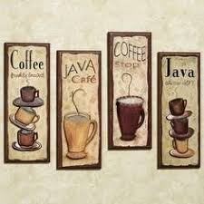 Java Cafe Wall Plaque Set For Kitchen